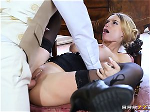 luxurious Maid Erica Fontes pulverizes in her super hot uniform