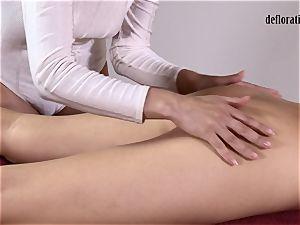 poon of Nikita fumbled in a girly-girl massage