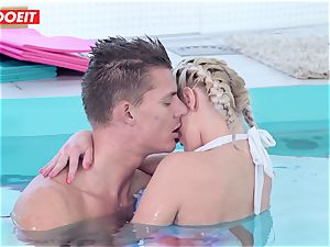 LETSDOEIT - super-fucking-hot Czech couple Has sultry Pool fuck-a-thon