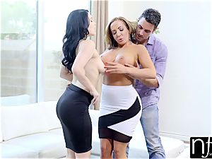 NF big-titted - fantastic wife Gives Him enormous congenital funbag hottie