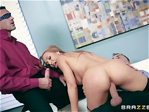 Office cockslut Nicole gets her thirsty fuckhole dual pounded