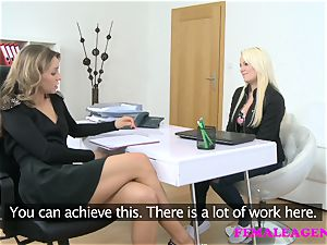 FemaleAgent wonderful college girl seduced by super-hot agent