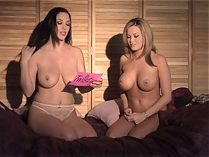 Jelena Jensen loves to showcase off her hooters and penetrate her girlfriend's puss