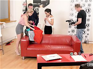 unveiled audition - super hot audition with Italian pornographic star