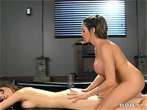 Oily massage action with Ariella Ferrera and Adessa Winters