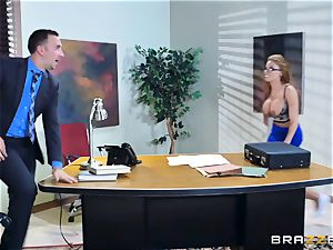 Britney Amber getting plumbed in her ass and fuckbox