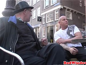 Real dutch prostitute doggystyled in tights