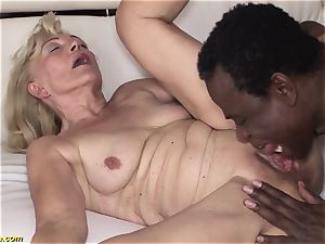 71 years older grandmas very first big black cock bi-racial