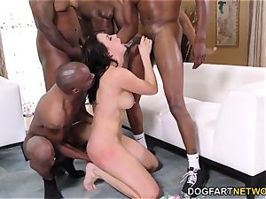 bi-racial group sex and dp with Chanel Preston