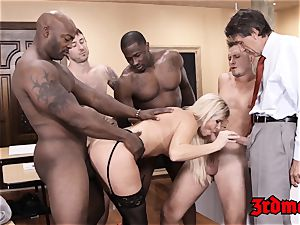 lecturer India Summer fed jizm after IR gangbang