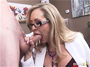 Rock rock hard patient gets banged by doctor Brandi enjoy