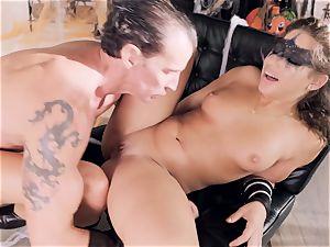 Abella Danger gets torn up by a crazy stiff gladiator