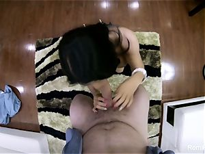 stellar Romi gives a super-steamy point of view blow-job and penetrate