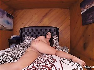 big-titted Alison films herself jacking