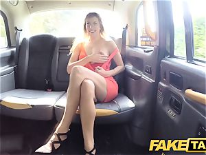faux taxi female in brief dress gets a taxi creampie