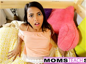 MomsTeachSex - mother And daughter-in-law have fun With father Gone