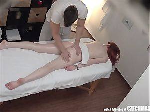 sandy-haired nubile has mighty Unprotected fuck-fest with masseuse