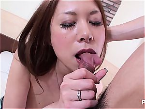 Jap babe with massive hooters seduced