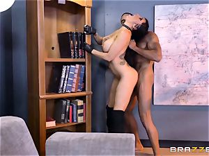 off the hook agent Romi Rain gets cootchie deep with the boss
