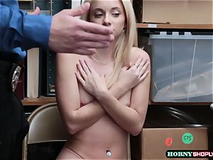 sexy Riley star caught stealing and gets her vagina screwed by officers