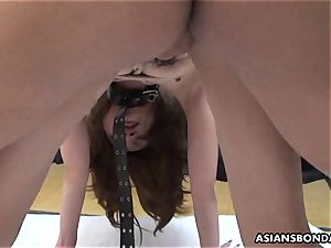 asian impatiently satiates her hubby s wooly meat rocket