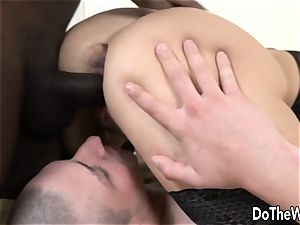 Bianca Ferreros asshole is destroyed with black prick