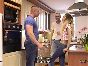 DADDY4K. Mature boy pokes lean honey in old and youthful pornography movie