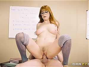 Classroom spunk activity with insatiable red-haired teacher Penny Pax
