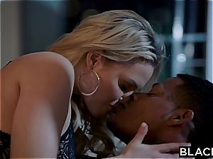 Mia Malkova gets her enormous white booty pummeled by black stick