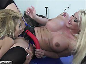 Mature wifey Leya Falcon punishes her husband's domina
