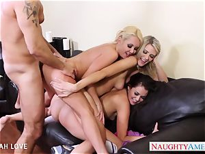 sexy Aaliyah enjoy pummeling in foursome