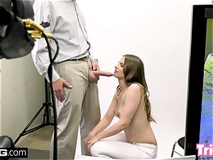 Jillian Janson gets tricked into plowing on a casting