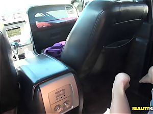 Cali Carter back seat ravages for money