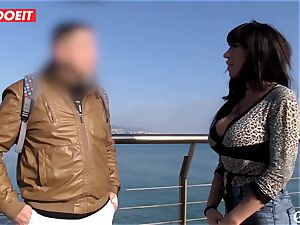 super-naughty stunner Picks up A guy On The Street and plumbs Him