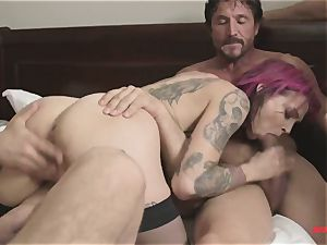 brutish gang penetrate On ginger-haired mom
