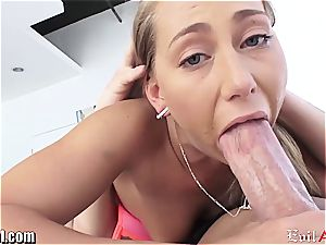 Carter Cruise gets her butt tongued