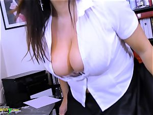 OldNannY extremely huge-boobed Mature Lulu Showoff