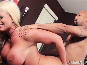 Alura Jenson slammered testicles deep and receives super-fucking-hot steaming internal cumshot