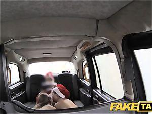 fake taxi Xmas theme exclusive santa ass fucking fucks two elves