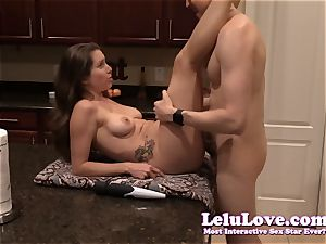 amateur duo deep-throats and nails on the kitchen counter