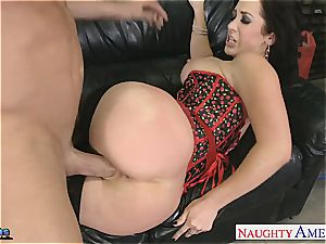 Jayden James opens broad to fit his yam-sized bone inwards her