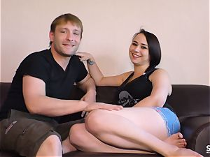 SEXTAPE GERMANY - insatiable new-comer German couple plumbs point of view