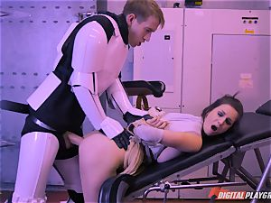 Stella Cox puss hammered by a space agent