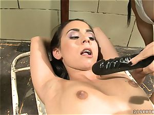 Mandy Bright fake penis tear up firm a roped stunner