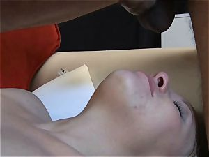 puny platinum-blonde cheating flashes her dt and fellate
