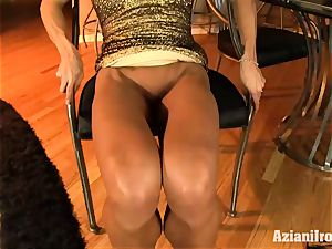 hard bodied Abby showcases off her rocking assets