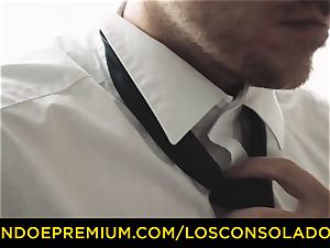 LOS CONSOLADORES - inked stunner super-steamy 3 orgy FFM