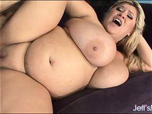 bbw Kacey Parker penetrates a Sleazy dude
