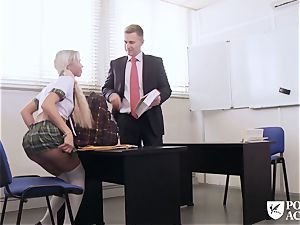 porn ACADEMIE - college girl Lara Sins gets jism facialed