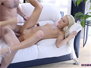 My stepmother washes my man-meat and takes it in her throat
